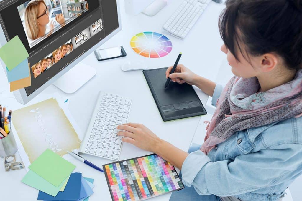 La conception graphique dans la Création d'un site Web Professionnel