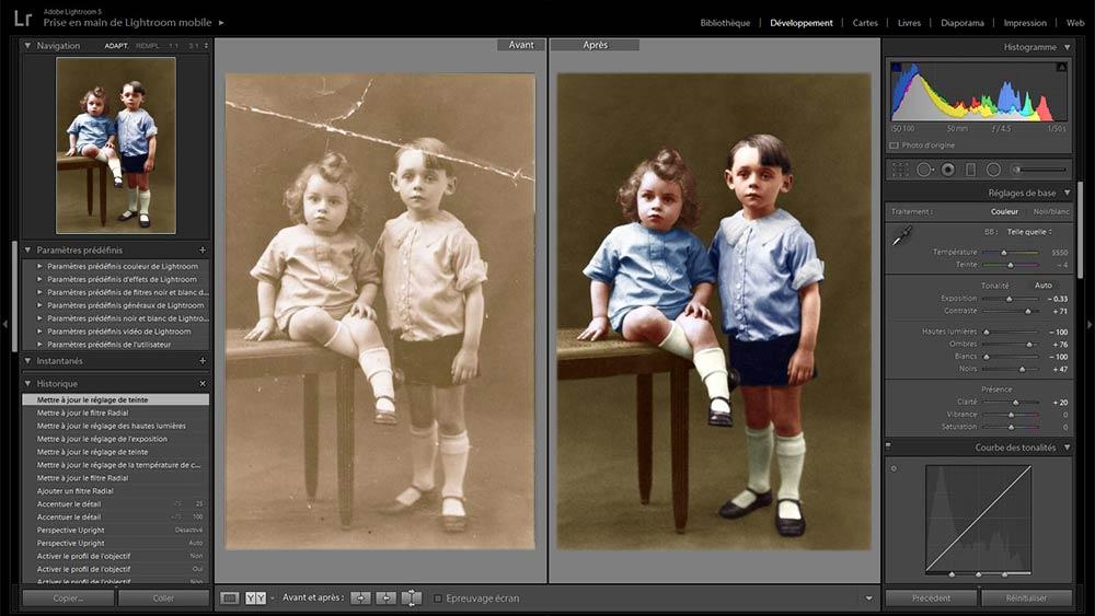 Restauration et retouche d'images