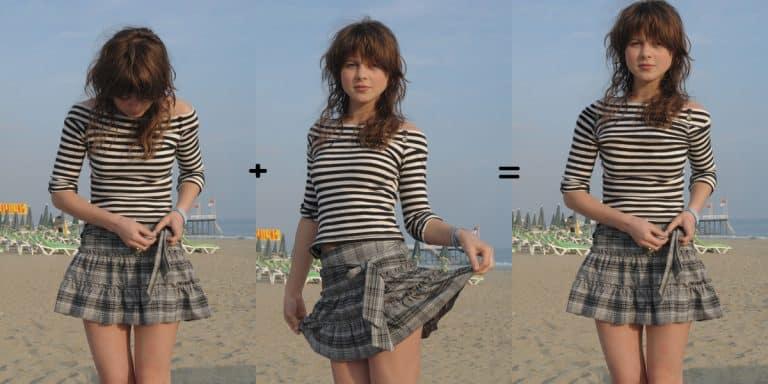 Assemblage et fusion de 2 photos